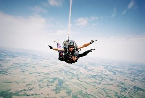Sky-Diving at Port Aransas
